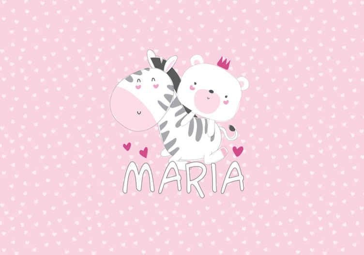 TenStickers. Dětské nástěnné malby zebra a medvěd. Překvapte své děti dnes svým vlastním jménem na této hezké zebře a medvědí nástěnné malbě pro děti dnes! Objednejte si ji ještě dnes a brzy ji obdržíte!