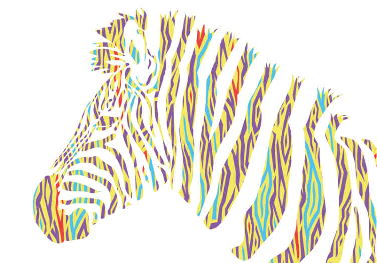 TenStickers. Fototapeta do gabinetu prezesa Vintage nadruk zwierzęcy zebry. Nadaj swoim ścianom dekorację stulecia za pomocą tej fajnie wyglądającej tapety w stylu zebry w stylu vintage. Miej go na wyciągnięcie ręki już za kilka dni!