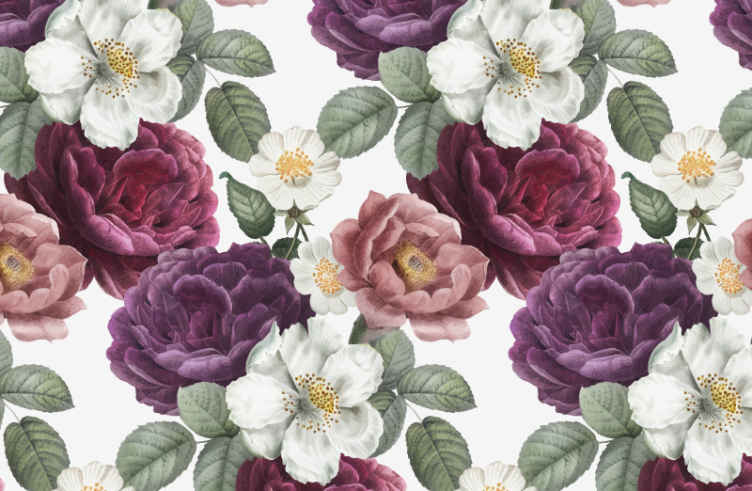 TenStickers. Ružičasta ruža i božur na crnim zidnim tapetama. Ovdje imamo izvrsno rješenje: naša nevjerojatna fotografija s cvjetnim tapetama. Kupite ga putem interneta i primite za nekoliko dana kod kuće!