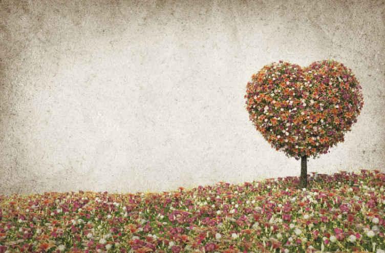 Tenstickers. Strom v tvare srdca nástenná maľba na jar. Získajte tento kvetinový produkt na stenu dnes a užívajte si umenie! Si ho priniesli domov už za pár dní! Doručenie domov, ak si ho objednáte ešte dnes!