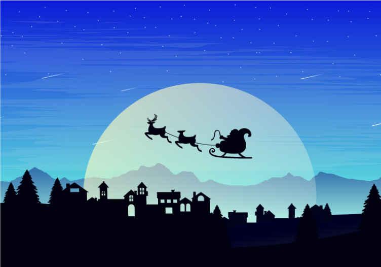 TenStickers. Silhuete stavb in dreves fantasy fototapeta. Naša stenska fototapeta v dnevni sobi s silhuetnimi zgradbami in drevesi je pravi okrasni element za ta božič! Dodaj v košarico!