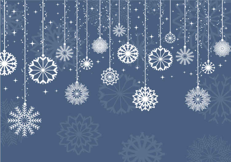 Tenstickers. Modré snehové vločky fantázia nástenná maľba. Tu pre vás máme špeciálne riešenie: našu úžasnú nástennú maľbu v salóniku s bielymi snehovými vločkami na modrom pozadí.