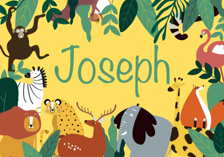 Tenstickers. Kreslené nástenné maľby pre divokú zver. Vytvorte vo svojej detskej izbe úžasnú atmosféru džungle pomocou nášho kresleného nástenného maľovania na mieru s rôznymi zvieratami v džungli.