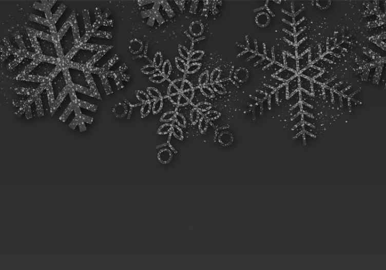 Tenstickers. čierne snehové vločky zimná krajina zázrakov fototapeta. čierne snehové vločky vianočné fototapety - jednoduchá vianočná fototapeta na dekoráciu ľubovoľného priestoru na stene v dome. Vyrobené z kvalitného materiálu a odolné.