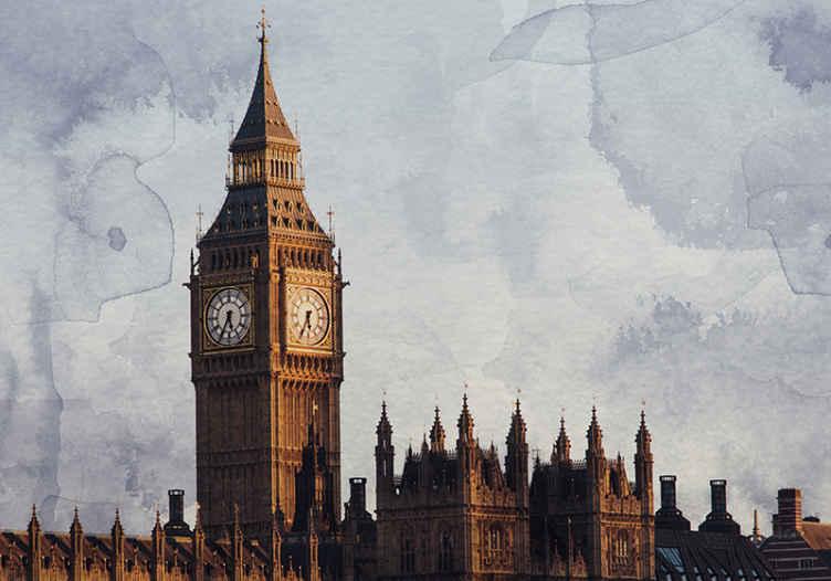 TenStickers. Big ben znamenitosti v londonu london skyline fototapeta. Neverjetna stenska poslikava big ben london skyline. Kot nalašč za okrasitev katere koli sobe! Ne čakajte več in naročite svojega zdaj! Dostava na dom! Izberite svojo velikost