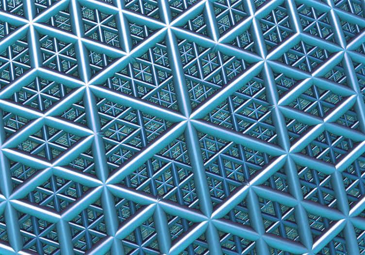 Tenstickers. Geometrické 3d fototapeta s trojuholníkmi 3d fototapeta na plochu. Moderný dizajn nástennej tapety s geometrickými 3d s trojuholníkmi s modrou farbou, ktorý vyplní super modernú a originálnu atmosféru miestnosti.