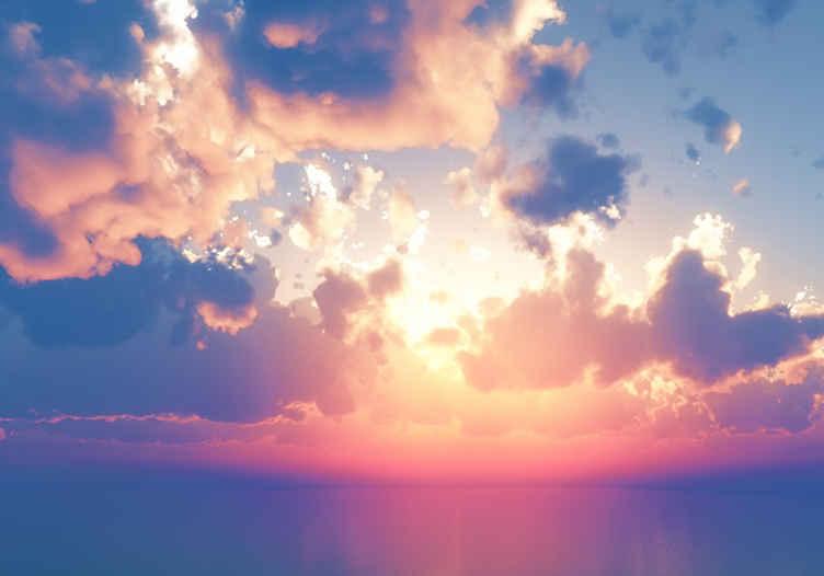 TenStickers. Prekrasni oblaci zidno fresko noćno nebo. Ovaj prilično lijepi oblačni zidni proizvod zasigurno će vašoj sobi donijeti puno više svjetla! Neka ovaj vaš originalni dizajn bude vaš sada!