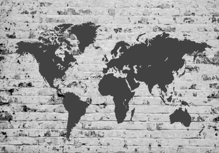 TenVinilo. fotomural mapamundi de ladrillo blanco. ¡Consiga este increíble mural de pared de mapamundi ahora en su habitación! ¡Ordénalo ahora, y recíbelo en tu casa o lugar de preferencia!