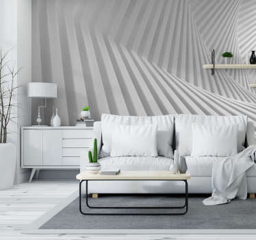 White geometry abstract Wall Mural