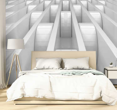3D Shapes Mural Wallpaper