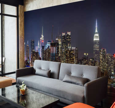 New York by day is stuning, but New York by night, that's a whole other story! This New York wall mural is stunning and exactly what your walls need