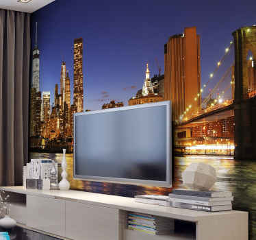 Beautiful image in a New York City photo mural. It will look great in your home, it is of first quality, with a matte finish to avoid reflections.
