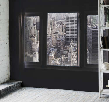 Terrace photo mural in New York. A beautiful design that will give spaciousness to your home while simulating an extension of your living room.
