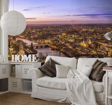 Get the best view in the city no matter where you are in the world with this amazing London Skyline mural wallpaper. Worldwide delivery!