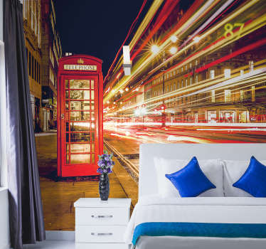Ah London, a city full of life and excitement! Transform your walls from bland and lifeless to exciting and lively with this London wall mural!
