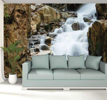 Serene Waterfall Wall Mural