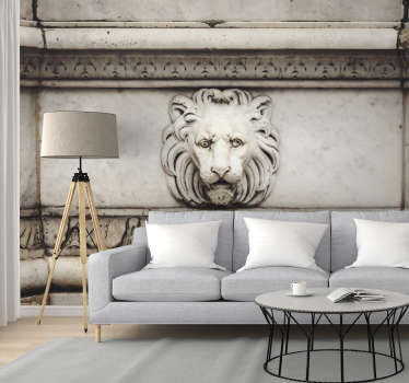 3D stone lion Art Wall Mural
