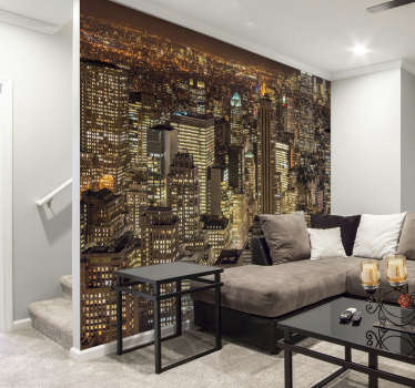 Check out this amazing New York photo mural The views of this magnificent city go on and on forever! This mural brings a lot of life to your walls