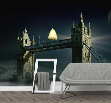 London bridge by night City wall mural
