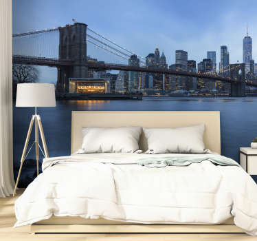 Manhattan view New York skyline wall mural