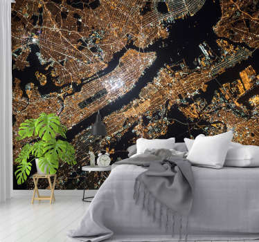 A gorgeous New York wall mural of Manhattan from above. Application couldn't be easier, and prices couldn't get any cheaper