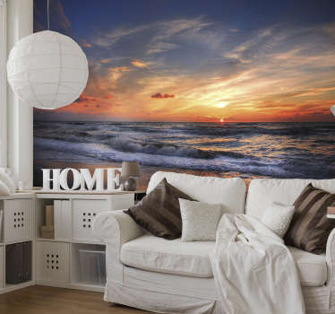 What could be more stunning than a sunset over a beach in Punta Cana? This beach wall mural is exactly what you need in your home