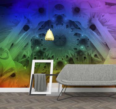Ecco a voi come un incredibile fotomurale arcobaleno della Sagrada Familia di Barcellona può trasformare la tua atmosfera casalinga!