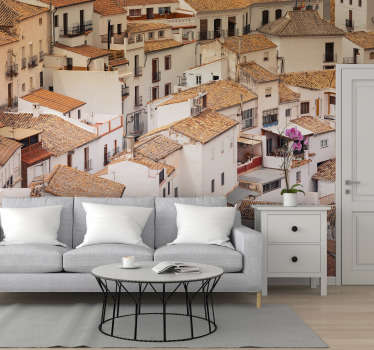 Get lost in the stunning streets of a cute town in Andalusia, Spain. This city wall mural is perfect for adding a light touch of colour to your walls