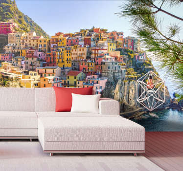 Italian coast mural wallpaper