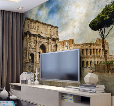 Explore the famous land marks of Rome with this Italy wall mural! A sight to see, the Arch of Constantine is featured in this stunning wall mural