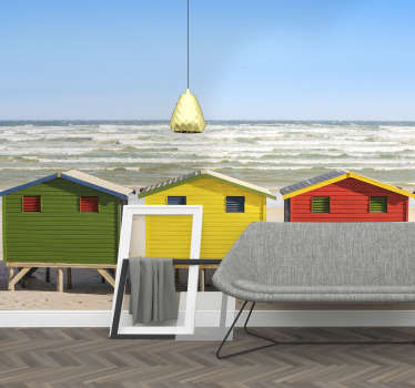 Mural de mar Beach huts