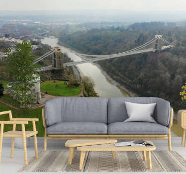 The great city of Bristol in England has a beautiful bridge that you can admire in this scenery photo mural. Apply it on every wall in your home!
