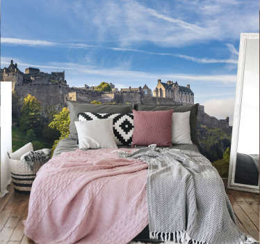Travel back to the age of castles and knights with this Edinburgh castle wall mural depicting the castle and the beautiful surroundings