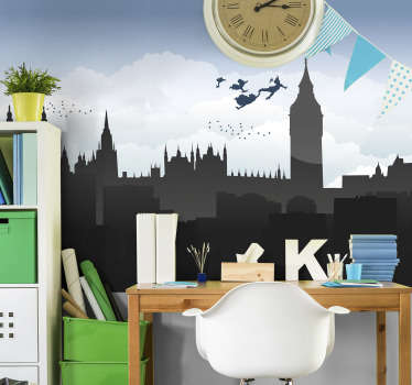 Looking for a way to decorate your kid's room in a unique and cute way? This London wall mural is exactly what you need. Easy to apply!