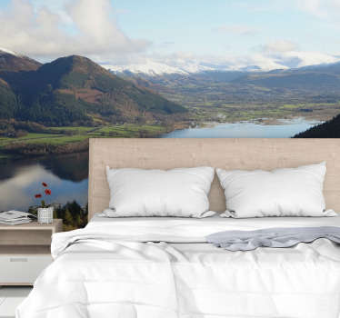 Lake district landscape wall mural