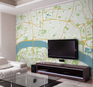 Do you live in London or visit frequently? Do you find it confusing to navigate around? Well how about a massive map of London wall mural?