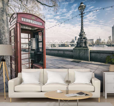 It wouldn't be London without a telephone box right If you think your room could do with being 'Londonified' this London wall mural is perfect for you