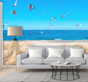 Beach Sunset Wall Mural