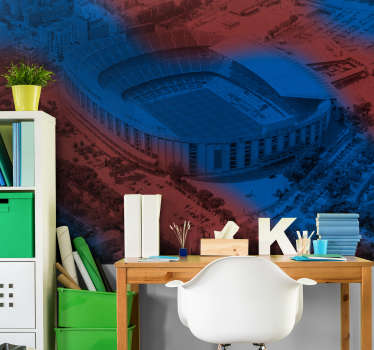 Original photomural room of Camp Nou with which you can enjoy your own views of the countryside from your room. Easy to apply and in high quality!