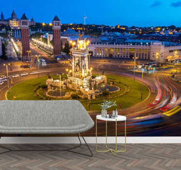 Incredible photomural of Barcelona for living room or double room with which you will be able to give a new atmosphere to your house and enjoy it.