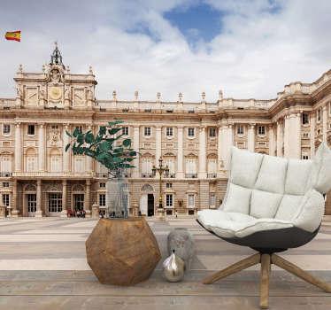 Original fotomural de ciudad de Madrid en tono beige con vistas al Museo del Prado con el que decorarás tu salón o dormitorio de forma exclusiva.