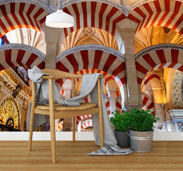 Incredible 3D photo mural city of the mosque of Cordoba with which you can decorate your house now with this incredible design.