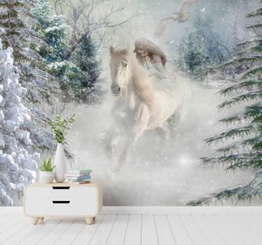 This fantasy photo mural is a wonderful decoration for the walls in your home Whether it is the bedroom, the kitchen or any other room that you like!