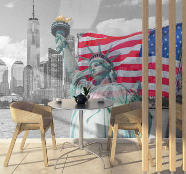 Would you like to live the American dream? With this new york city photo mural you can easily decorate your home or office, wherever you want!