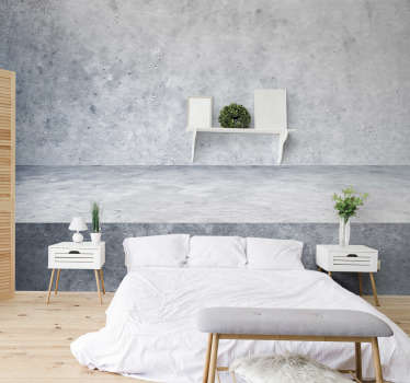 This bedroom photo mural shows a beautiful grey wall made of concrete. The great colors of this product will be the perfect decoration for you!