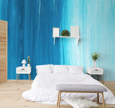 A blue textured photo wall mural design of a unique abrasive looking surface This design will look very nice in your living room or bedroom.