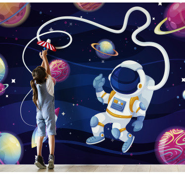 Boost your childrens imagination with this bedroom wall murals that shows enlessness of our universe. High quality image!