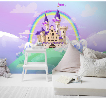 Order a fantasy wall mural will be perfect for your child who loves magical fairyplace full of amazing adventures and stories. Vivid colours!