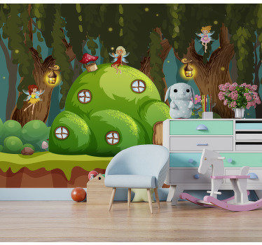 Order this kids mural wallpaper and totally change their bedrooms. We guarantee they will fall in love with this magical design!
