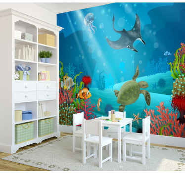 This large wall mural can be ordered in any size, and will make every wall of the house special, Let your child also this!